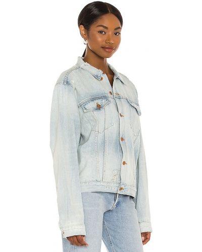 Niebieskie jeansy zapinane na guziki bawełniane Nsf