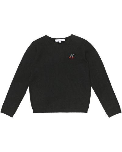 Теплый кашемировый черный свитер Bonpoint
