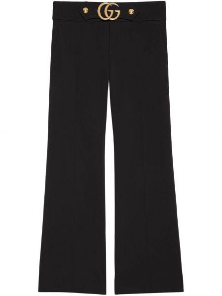 Czarne majtki z nylonu rozkloszowane Gucci