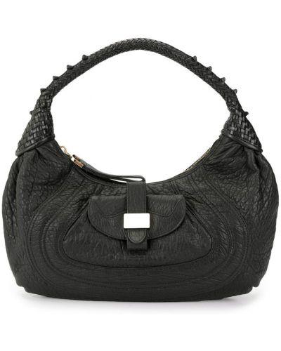 Кожаная сумка сумка-хобо с ручками Fendi Vintage