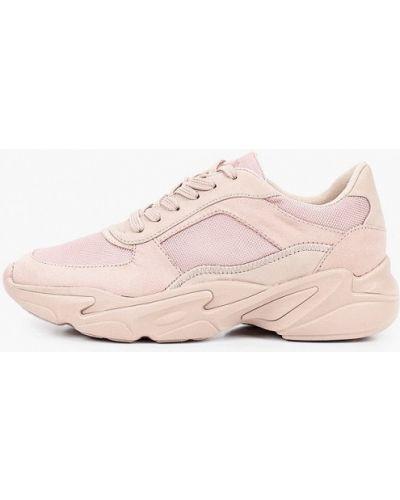 Розовые кожаные кроссовки S.oliver