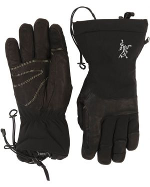 Czarne rękawiczki skorzane Arcteryx
