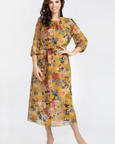 Повседневное желтое платье Prima Linea