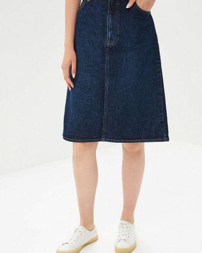 Синяя джинсовая юбка Lee