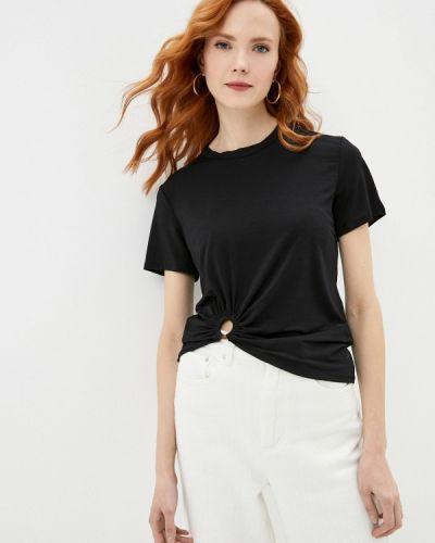 Черная блузка с короткими рукавами Colcci