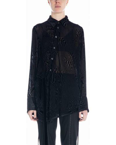 Czarna koszula asymetryczna Ann Demeulemeester