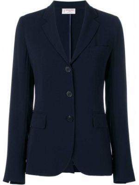 С рукавами синяя куртка с лацканами с карманами Alberto Biani