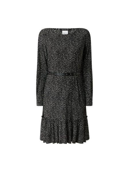 Czarna sukienka z falbanami Pennyblack