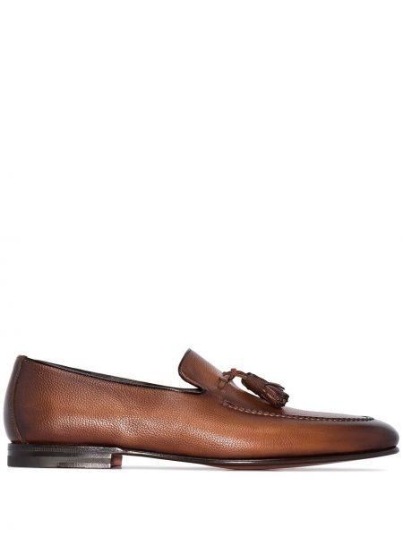 Loafers skórzany Santoni