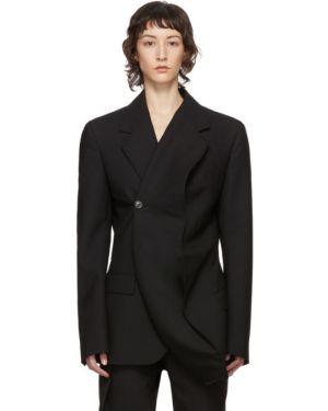 Пиджак черный в полоску Y Project