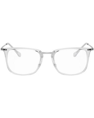 Srebro oprawka do okularów przezroczysty metal prostokątny Ray-ban