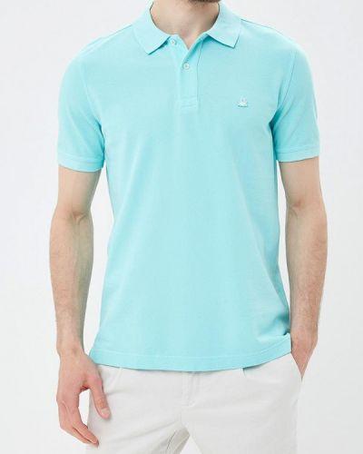 Голубое поло United Colors Of Benetton