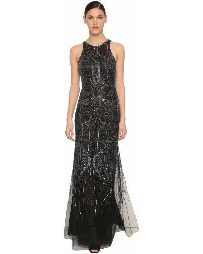 Шифоновое платье - черное Roberto Cavalli