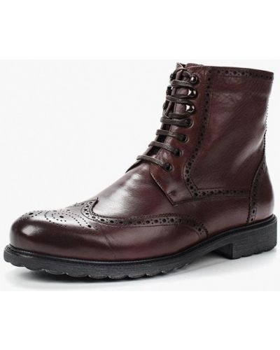 Ботинки осенние кожаные коричневый Marco Lippi