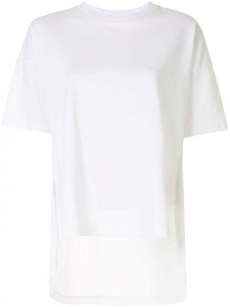 Koszula z krótkim rękawem biała elastyczna Enfold