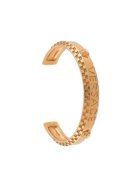 Bransoletka metal złoto Versace