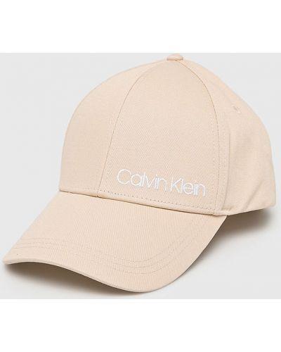 Хлопковая кепка - бежевая Calvin Klein