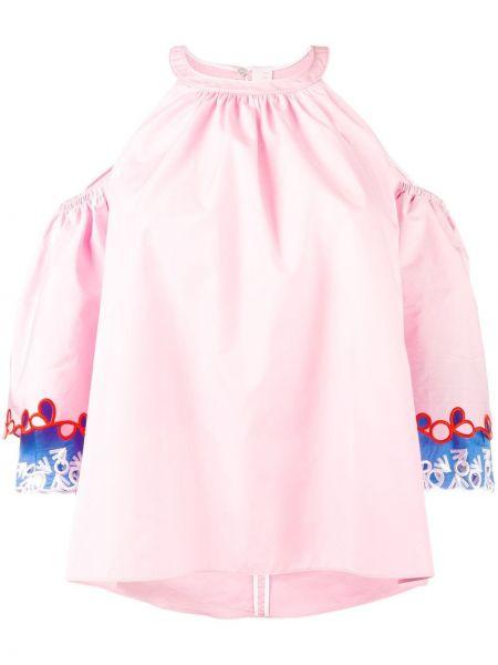 Розовая блузка без рукавов с вышивкой свободного кроя с вырезом Peter Pilotto