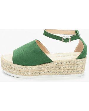 Зеленые текстильные сандалии Martin Pescatore