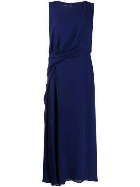 Платье миди на молнии прямое Giorgio Armani