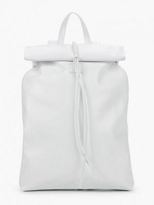 Белый городской рюкзак из натуральной кожи Asya Malbershtein