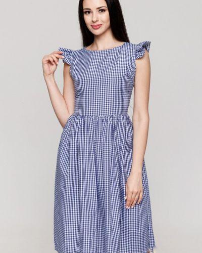 Платье осеннее синее Karree