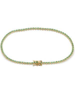 Zielona złota bransoletka ze złota szmaragd Vanzi