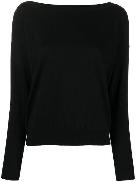 Черный свитер в рубчик Peuterey