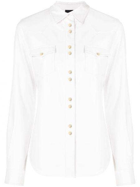 Приталенная белая рубашка с воротником Pinko