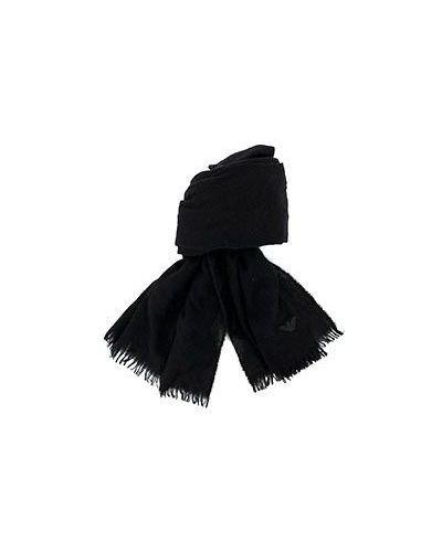 Черный шарф кашемировый Emporio Armani