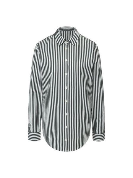 Хлопковая деловая джинсовая рубашка с запахом для офиса Van Laack