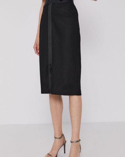 Czarna spódnica midi materiałowa na co dzień Dkny