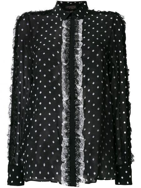Блузка в горошек шелковая Giambattista Valli