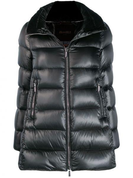 Прямая серая длинная куртка Moorer