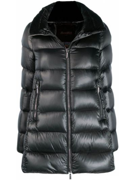Прямая стеганая куртка мятная Moorer
