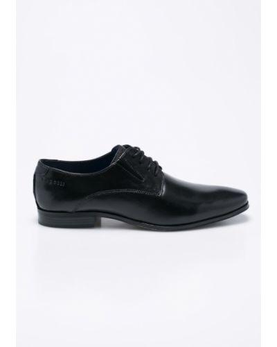Черные туфли Bugatti
