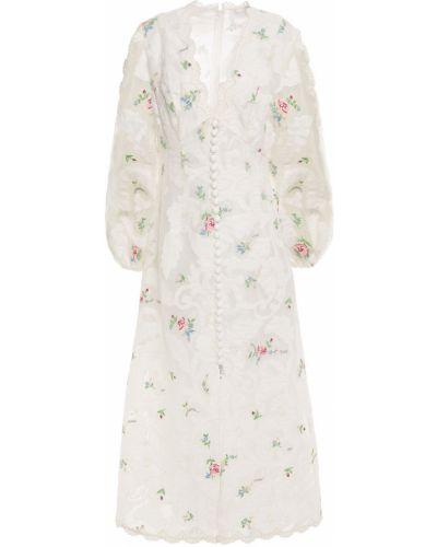Белое шелковое платье Zimmermann