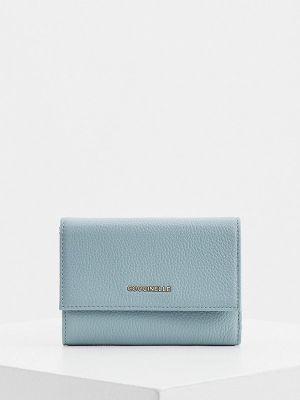 Кожаный кошелек - голубой Coccinelle