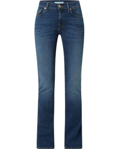 Mom jeans bawełniane - niebieskie 7 For All Mankind