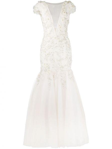 Платье мини с открытой спиной с V-образным вырезом Loulou