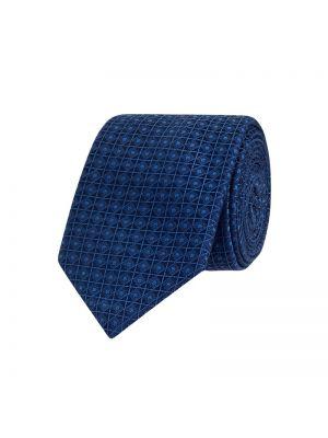 Krawat z jedwabiu - niebieski Ck Calvin Klein