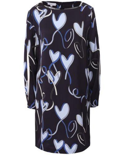 Синее платье с принтом Escada Sport