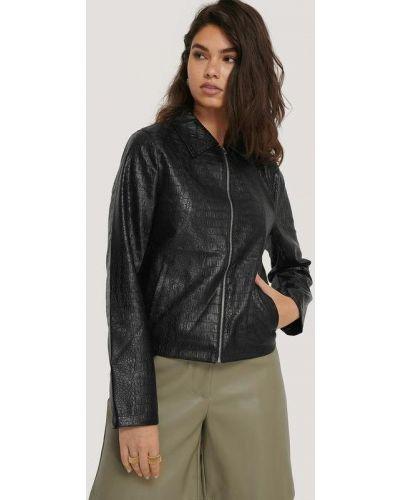 Кожаный пиджак - черный Na-kd