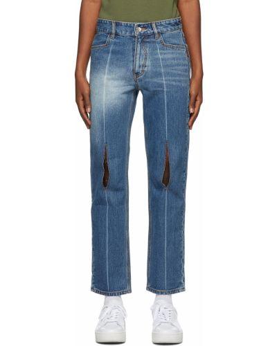 Джинсовые прямые джинсы - синие Ader Error