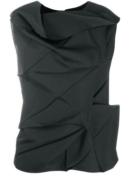 Czarna bluzka bez rękawów 132 5. Issey Miyake