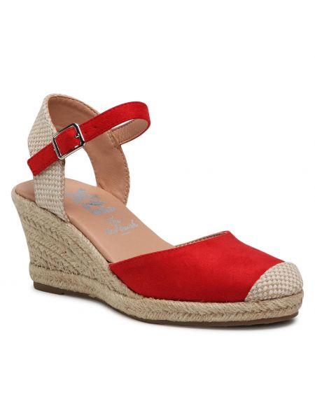 Czerwone sandały espadryle Xti