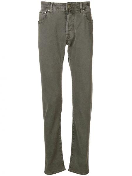 Зеленые прямые джинсы с карманами Jacob Cohen