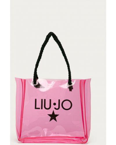 Różowa torebka duża z printem Liu Jo