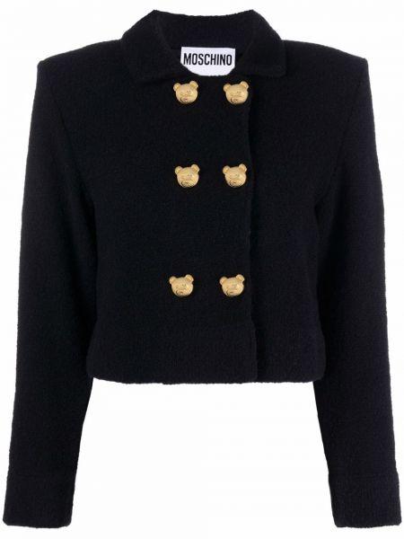 Черный пиджак на пуговицах Moschino