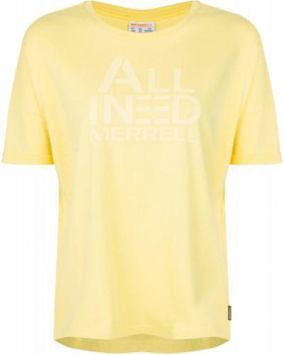 Оранжевая хлопковая спортивная футболка свободного кроя Merrell